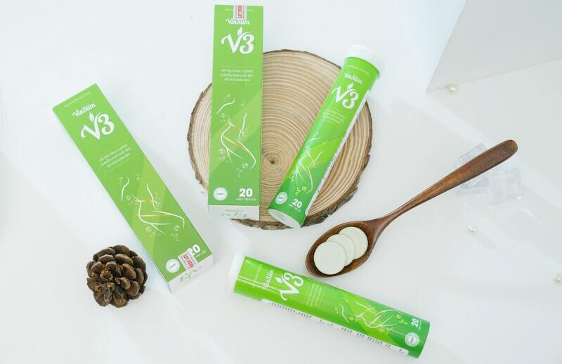 Viên sủi Vinslim V3, hỗ trợ tăng cường chuyển hóa chất béo và giảm béo