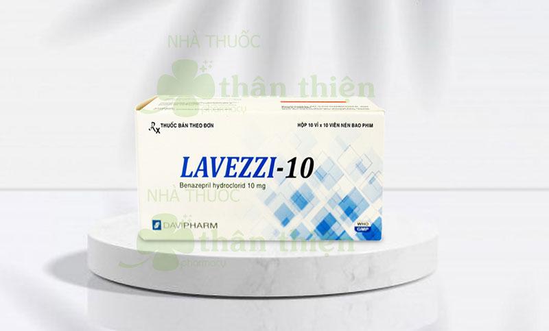 Lavezzi-10, phối hợp với thuốc lợi tiểu thiazid để điều trị tăng huyết áp