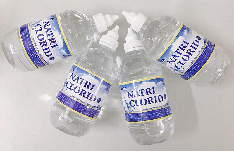 Nước muối sinh lý Vifa, làm sạch, rửa vết thương, vệ sinh mũi, miệng