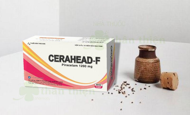 Thuốc Cerahead-F, điều trị đột quỵ thiếu máu cục bộ cấp, suy giảm trí nhớ