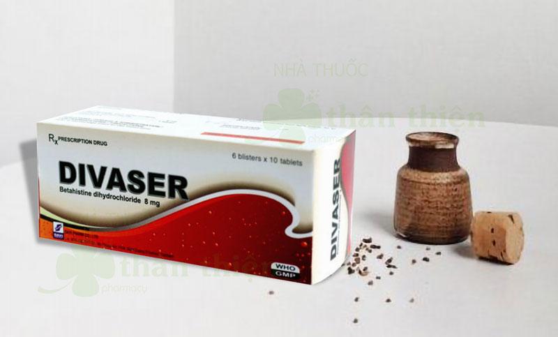 Thuốc Divaser, điều trị triệu chứng chóng mặt tiền đình
