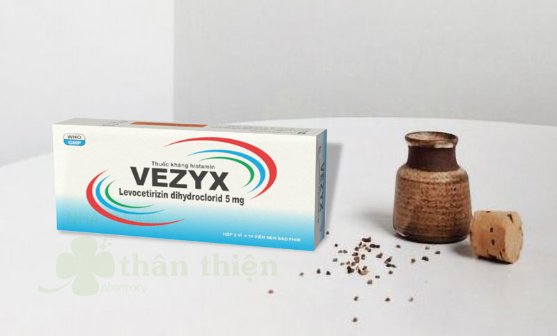 Thuốc Vezyx, điêm mũi dị ứng theo mùa, viêm mũi dị ứng mạn tính, hắt hơi