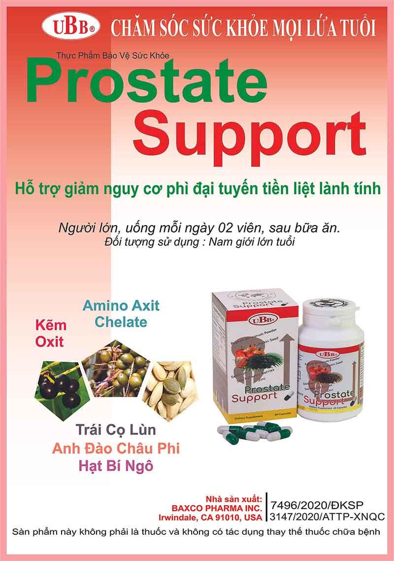 UBB® Prostate Support, hỗ trợ giảm nguy cơ phì đại tuyến tiền liệt
