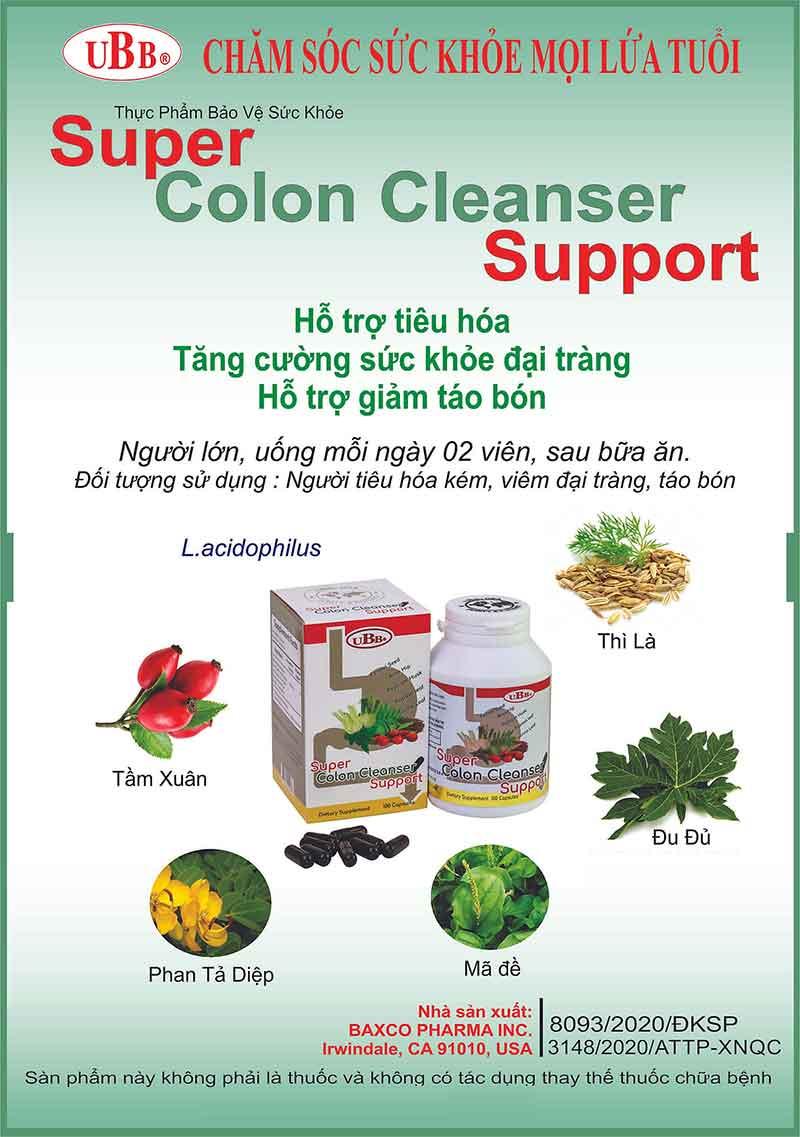 UBB® Super Colon Cleanser Support, hỗ trợ hệ tiêu hóa